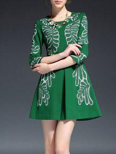 Paneled  Mini Dress