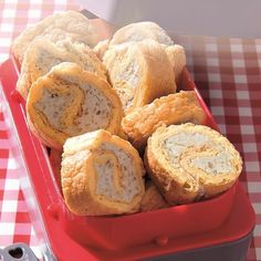 Roulés au Roquefort et aux Noix Canapes, Cornbread, Mashed Potatoes, Muffin, Breakfast, Ethnic Recipes, Desserts, Food, Kiri