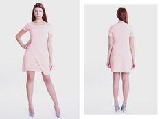 Różowa sukienka z zakładanym dołem, dostępna na http://gantos.pl/pl/wszystkie-produkty/114-22.html Zapraszamy również do nowego sklepu na ul. Abrahama 10 w Gdyni !
