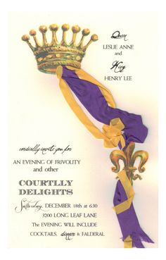Courtly Crown Invitation from Odd Balls Party Invitations