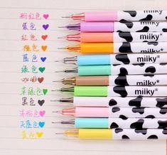 12 pcs/Lot Milky gel pen Kawaii cow pens canetas escolar Japanese Stationery zakka papelaria office material school supplies-in Gel Pens from Office & School Supplies on Aliexpress.com   Alibaba Group