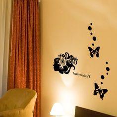 wallsticker flower-decoration-woman Wallpaper interior Design