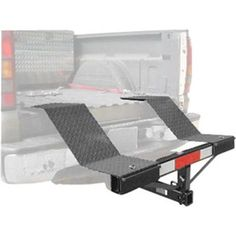 Haul an ATV, garden tractor or other vehicle in your truck with the Ironman TralRack Equipment Rack! Fits into your truck's trailer hitch to extend the bed. Atv Racks, Truck Ramps, Truck Accesories, 4x4, Atv Trailers, Trailer Build, Quad Trailer, Work Trailer, Atv Accessories