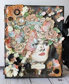 New Graphic 45 Imagine mini album/ Brand Ambassador Glenys Vidal/Craft Room Secrets Mini Scrapbook Albums, Scrapbook Paper Crafts, Mini Albums, Scrapbooking, Imagine Album, Art Deco Cards, Mini Album Tutorial, Planner Decorating, Mixed Media Artwork