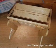 Tutorial: Krippe aus Holzspateln