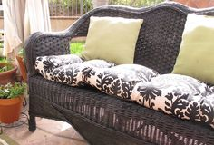 Step by step tutorial on how to turn a old piece of wicker furniture and make it look brand new.
