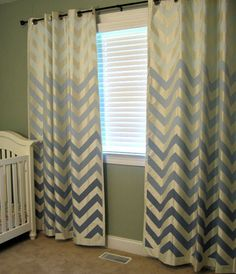 DIY chevon ombre (my two favorites) curtains!!! Love.