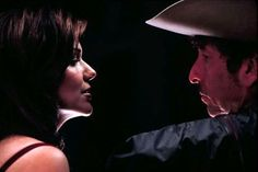 Still of Bob Dylan and Laura Harring in Masked and Anonymous (2003)
