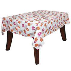 Colorful Print Floral Table Decor Accessories Tablecloth Cotton Rectangular Indian 60X90 Inch ShalinIndia http://www.amazon.com/dp/B00T9KVJHA/ref=cm_sw_r_pi_dp_VuXVvb1SC0009