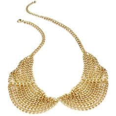 Material Girl Necklace, Gold-Tone Chain Bib Necklace