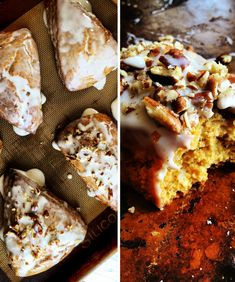 Carrot Cake Scones with Maple Pecan Glaze Recipe | Savory Sweet Life - Come to Mama!!!