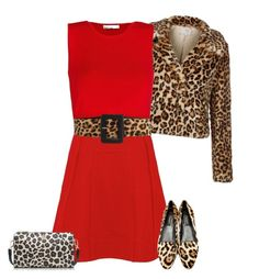 """""""leopard#red"""" by bodangela ❤ liked on Polyvore featuring Marc by Marc Jacobs, MANGO, Dolce&Gabbana and Tory Burch"""