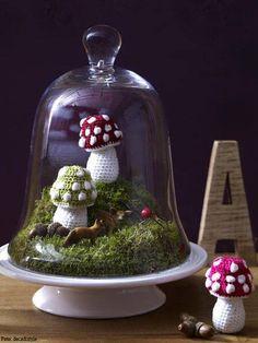 DIY: Pilze häkeln im Glas