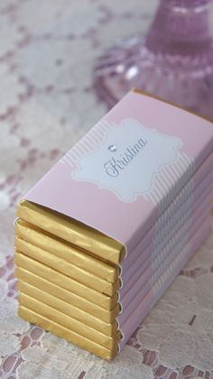 customize your chocolate with home printed wrappers :)