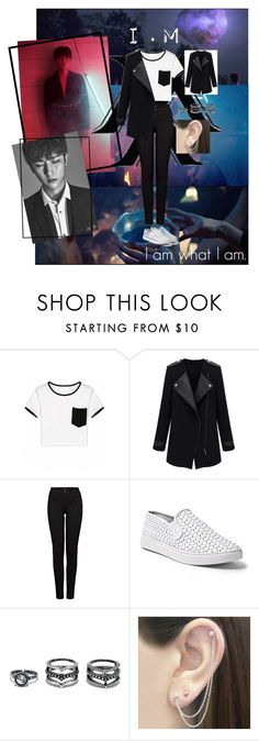 """""""Monsta x I.M"""" by vpawesome on Polyvore featuring J Brand, Steve Madden, LULUS and Otis Jaxon"""