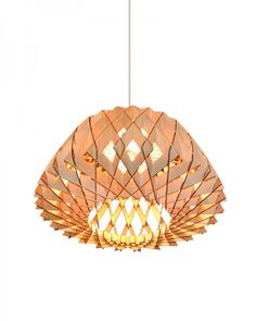 Honeycomb Shade Plywood Pendant Hang Lamp