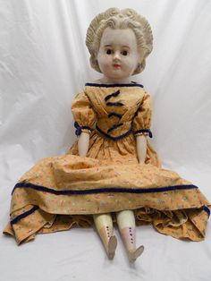 большая восковая бумага папье маше немецкая кукла оригинальной тело старую одежду голова из тыквы