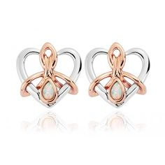 Clogau Sterling silver and rare welsh gold cloau gold studs