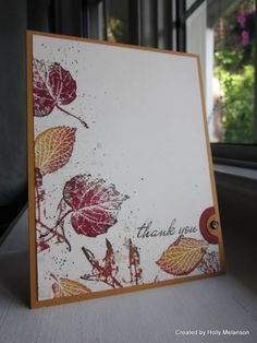 CAS130 ~Falling Leaves~ by hollerinastamps - Cards and Paper Crafts at Splitcoaststampers