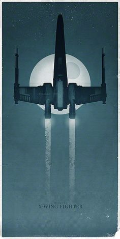 The X-Wing Fighter on a Mission to the Death Star  #starwars