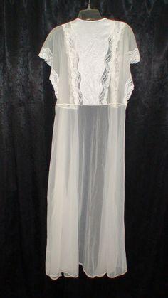 Bridal  Negligee Robe Vintage by ThatsSewBizarre on Etsy