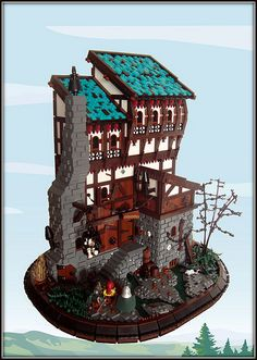 this is by Derfel Cadarn. I'm a great fan of his MOCs. He's an incredible builder; such attention to detail.