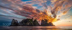 Sunset at Shi Shi Beach in Olympic National Park by jhoptay1  Sunset at Shi Shi Beach in Olympic National Park jhoptay1