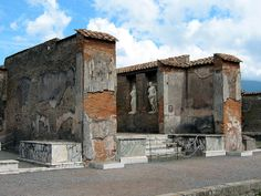 An excavated public building in Pompeii