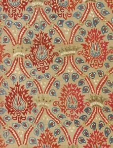 17th century Ottoman textile pattern