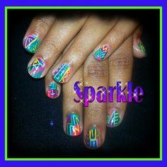 #IHeartNailArt Heart Nail Art, Sally Hansen Nails, My Heart, Sparkle, My Love, Health, Health Care, Healthy, Salud