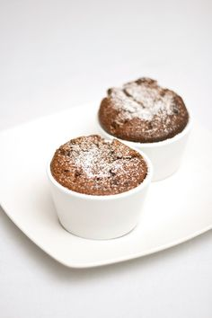 chocolate ramekin souffles