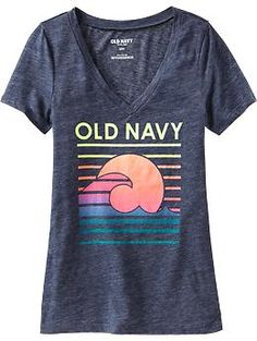 Graphic V-Neck Tees at old navy