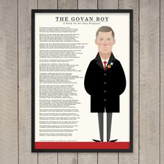 Image of The Govan Boy Stanley Chow, Oliver Jeffers, Sir Alex Ferguson, A3 Size, Chow Chow, Poems, Paper, Prints, Movie Posters