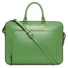 Green briefcase for my professional self. Haha.