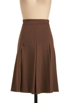 Fashionable Fundraiser Skirt, #ModCloth.  I could make something like this (in black) to go with my blazer.