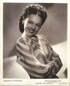 "In Dorothy Dandridge was considered by Twentieth Century Fox for the title role in Pinky, a film that told the story of a light-skinned Black woman who ""passed"" for white during her youth as a student in the North. Pinky faced the ""dilemma"" of. Old Hollywood, Hollywood Glamour, Hollywood Stars, Classic Hollywood, Hollywood Icons, Hollywood Actresses, Dorothy Dandridge, Vintage Black Glamour, Vintage Beauty"