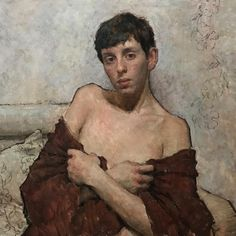 Travis Schlaht - The Red Shawl Figure Painting, Painting & Drawing, Painting Inspiration, Art Inspo, Art Of Man, Oil Portrait, Gay Art, Life Drawing, Art Techniques