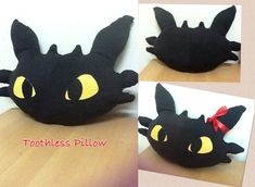 Toothless Pillow (How To Train Your Dragon) by ShamineSaif.deviantart.com on @deviantART