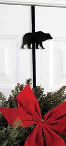 Wrought Iron Bear Wreath Hanger