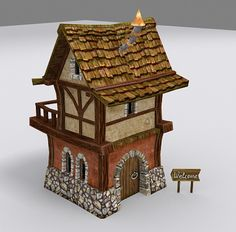 medieval fantasy town tiny 3d model - Tiny Town... by tinyutopia