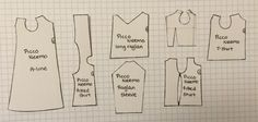 I've noticed that there aren't many patterns available for picco neemo, so I decided to upload my own. All patterns were drafted for an M body, but as far as I am aware, S, M, and D all have the same torsos