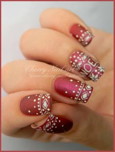 CHERRY NAIL ART Christmas #nail #nails #nailart