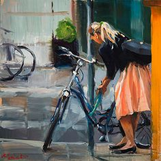 Kai Fine Art is an art website, shows painting and illustration works all over the world. Painting People, Figure Painting, Paintings I Love, Beautiful Paintings, Guache, Bike Art, Figurative Art, Cool Art, Contemporary Art