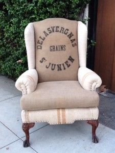 french grain sack chair | uber chic home