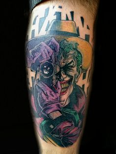The Killing Joke Joker Tattoo DC Comics by Steve Rieck from Las Vegas, NV