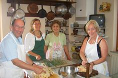 Cooking class in Cortona  			Live authentic Italian moments in the Tuscan countryside and learn the secrets of Tuscan cuisine with Simonetta.			Simonetta introduces you to her kitchen, full of books, spices, jars full of dried fruit, and naturally, with her pots and pans hanging from the wall, because there is no room left. Cooking courses are a full immersion in her lifestyle, a mix of food and culture, but also of practicality. Learn to make dishes which you can easily repro...