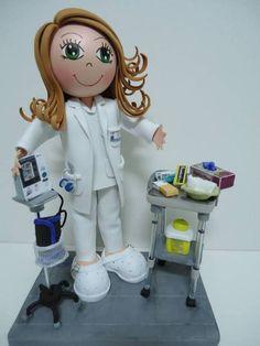 Fofucha enfermera - goma eva