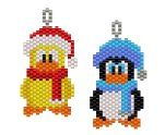 Winter Chick and Penguin Earring