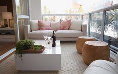 Sala e varanda unidas por mais espaço - Arquitetura - iG