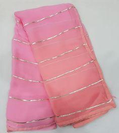 Pure Georgette Sarees, Chiffon Saree, Dress Neck Designs, Saree Blouse Designs, Simple Kurta Designs, Saree Floral, Kurti Embroidery Design, Simple Sarees, Indian Gowns Dresses